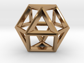 VECTOR EQUILIBRIUM FRAME in Polished Brass