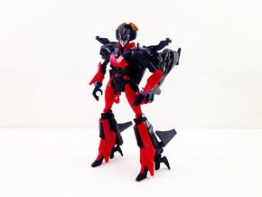Heels for deluxe Windblade in Black Natural Versatile Plastic