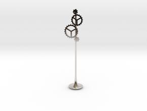 Steam Tamper in Rhodium Plated Brass