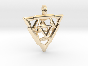 TRI-VECTOR SQUEEZE in 14k Gold Plated Brass