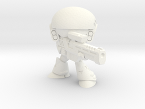 CHIBI MERC SOLDIER-006 (D) in White Strong & Flexible Polished