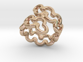 Jagged Ring 25 - Italian Size 25 in 14k Rose Gold Plated