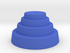 DRAW geo - terraced dome in Blue Processed Versatile Plastic: Small