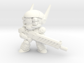E-SWAT UNIT-008 (B) in White Processed Versatile Plastic