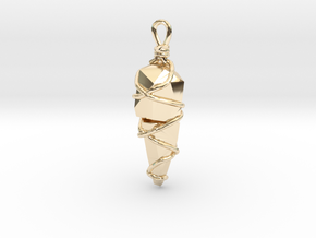 Stones Pendant in 14k Gold Plated Brass
