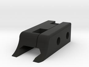 Top Rail in Black Natural Versatile Plastic