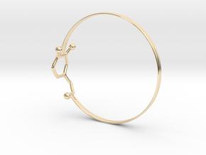 Dopamine Bangle Bracelet: Large: 75mm diameter in 14k Gold Plated Brass