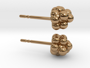 Camphor Earring Studs in Polished Brass