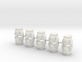10 Ozymandias Shoulder Pads in White Strong & Flexible