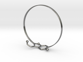 Serotonin Bracelet 65 Mm Embossed in Fine Detail Polished Silver