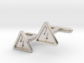 Electricity Cufflinks in Rhodium Plated Brass