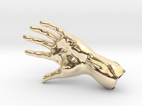 The Hidden Hand (Miniature) in 14k Gold Plated Brass