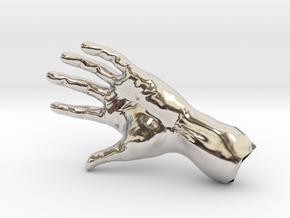 The Hidden Hand (Miniature) in Rhodium Plated Brass
