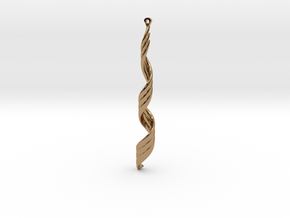 Spiral Wave Earrings  in Polished Brass
