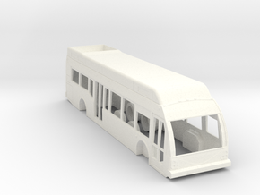 HO Scale Eldorado Axess BRT Fuel Cell Bus in White Processed Versatile Plastic