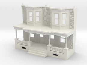 WEST PHILLY ROW HOME FRONT 160TWN in White Natural Versatile Plastic