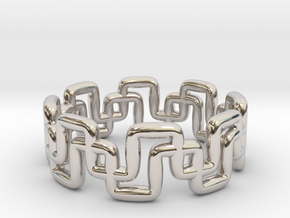 Ring Pipeline in Rhodium Plated Brass