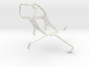 Controller mount for PS3 & Asus Zenfone 2 Laser ZE in White Natural Versatile Plastic