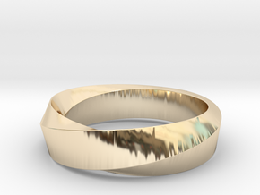 Mobius Wide Ring (Size 8) in 14K Yellow Gold