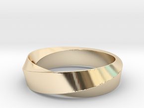 Mobius Wide Ring (Size 10) in 14K Yellow Gold