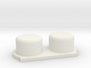 Flex-4btn Nintendo/Gameboy in White Strong & Flexible