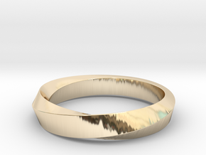 iRiffle Mobius Narrow Ring I (Size 10) in 14K Yellow Gold