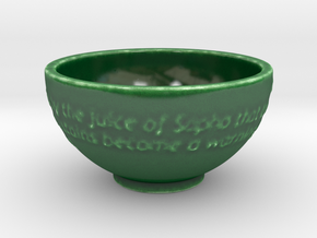 Porcelain message bowl in Gloss Oribe Green Porcelain