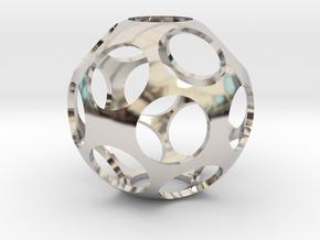 Ball Shaped Pendant in Platinum
