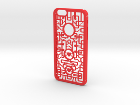 Geometric Shapes With Hearts in Red Processed Versatile Plastic