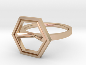 Minimal Hex Size 4½ in 14k Rose Gold Plated Brass