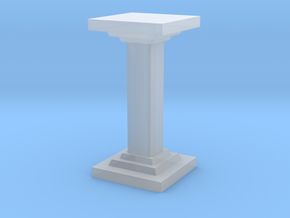 Square Pillar in Smooth Fine Detail Plastic