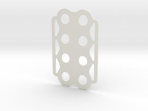 1.1ml Arm Reaction Test Eight Holder in White Natural Versatile Plastic