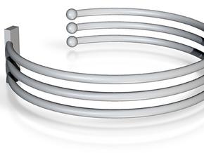 Tripple Bracelet Ø 63 Mm/2.48 inch R Medium in Green Processed Versatile Plastic