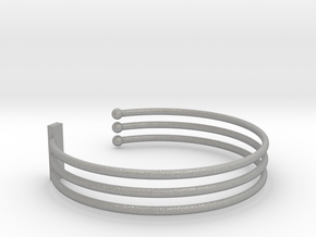 Tripple Bracelet Ø 63 Mm/2.48 inch R Medium in Aluminum