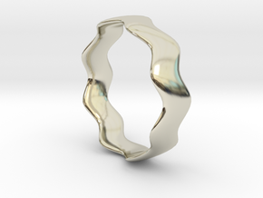 WIDE WAVE Ring in 14k White Gold