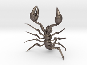 Toy Scorpion in Polished Bronzed Silver Steel