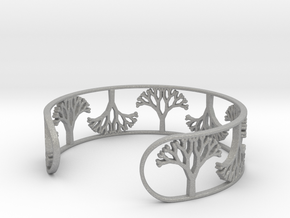 Natural Tree Bracelet 7in (18cm)  in Aluminum