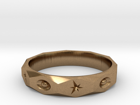 star spark ring  in Natural Brass: 7 / 54