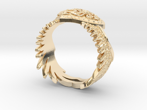 Winged Heart Ring SIZE 10 in 14K Yellow Gold