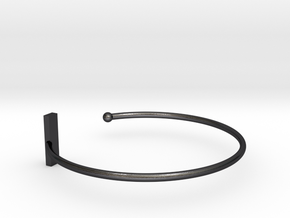 Fine Bracelet Ø 58 mm/2.283 inch R Small in Polished and Bronzed Black Steel