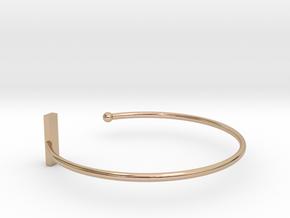Fine Bracelet Ø 58 mm/2.283 inch R Small in 14k Rose Gold Plated Brass