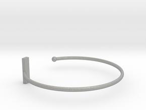 Fine Bracelet Ø 58 mm/2.283 inch R Small in Aluminum
