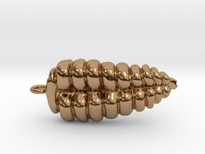 Rattlesnake Rattle Pendant/Earring in Polished Brass