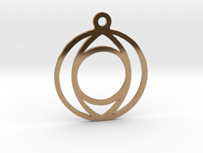 One. - Tribute to the Philosophy of Number in Polished Brass