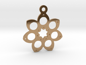 Seven. - Tribute to the Philosophy of Number in Polished Brass