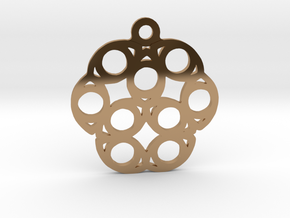 Nine. - Tribute to the Philosophy of Number in Polished Brass