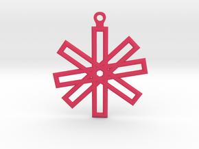 Sacred Geometry Earrings (Big) in Pink Processed Versatile Plastic