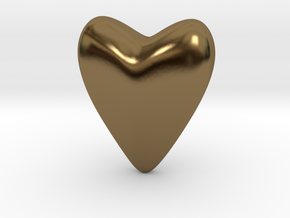 Small Heart in Polished Bronze