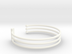 Tripple Bracelet Ø 58 mm/2.283 inch Small in White Processed Versatile Plastic
