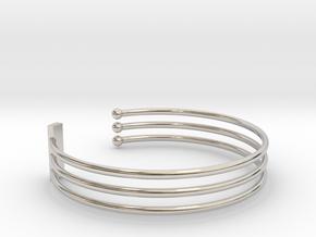 Tripple Bracelet Ø 68 mm/2.677 inch Large in Platinum